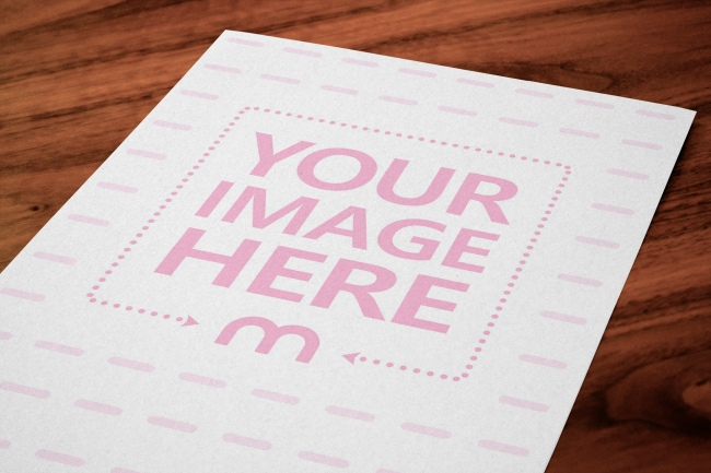A4 Paper Closeup Online Mockup Generator preview image