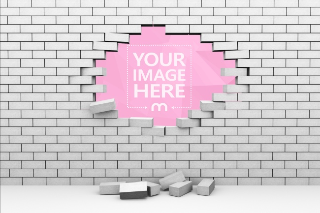 Hole in Brick Wall Image Effect preview image