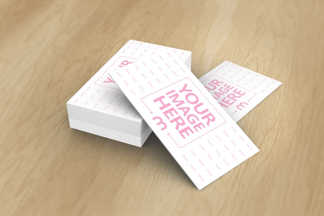 3D Business Cards Mockup template preview image