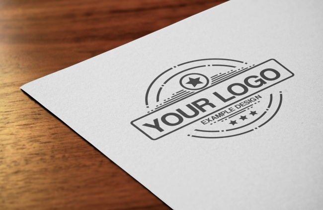 Logo Close-Up Mockup Template preview image