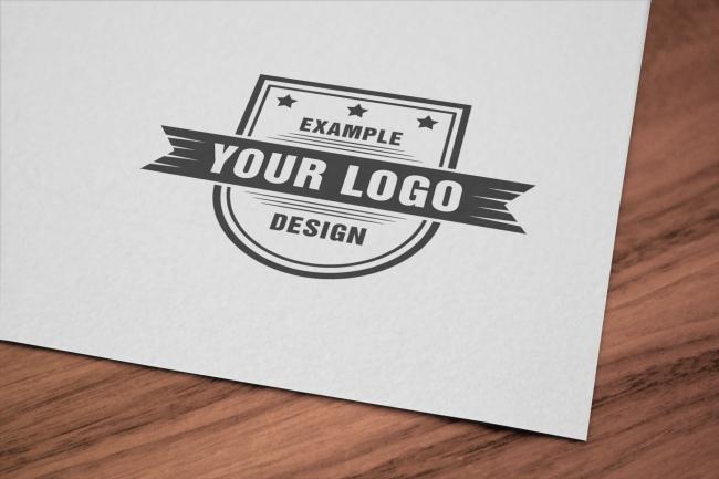 Logo Close-Up Paper Online Mockup preview image
