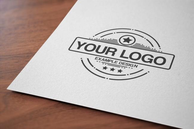 Close-Up Logo on Paper Mockup Online