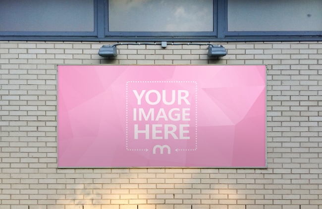 Large Billboard Ad on House Wall preview image