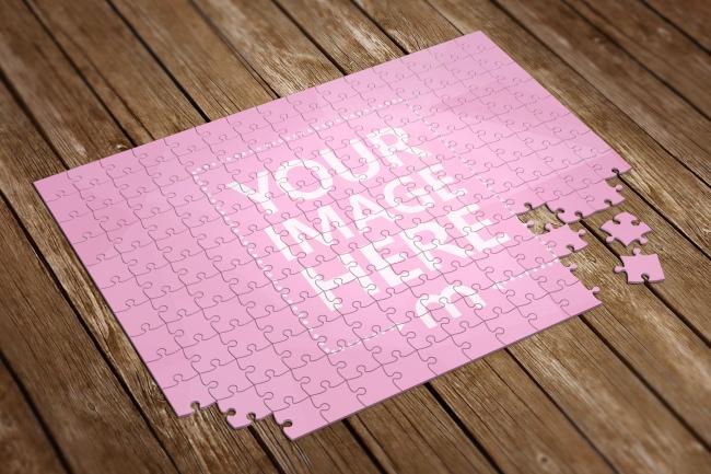3D Jigsaw Puzzle Image Effect