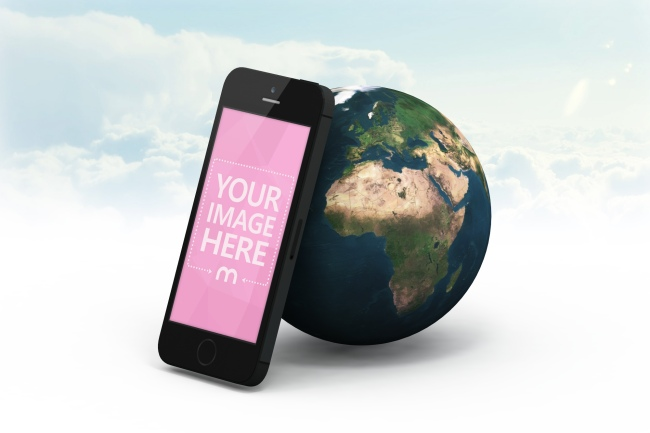iPhone & 3D Earth Mockup Generator preview image
