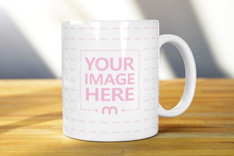 Free White Mug Realistic Online Mockup
