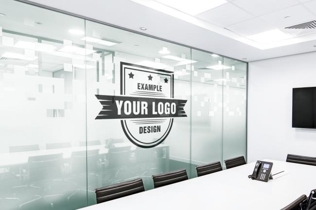 Office Board Room Online Logo Mockup