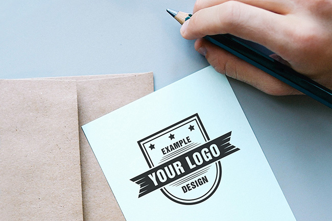 Logo on Paper Online Mockup Generator
