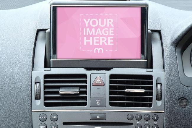 Car Display Screen Mockup Generator