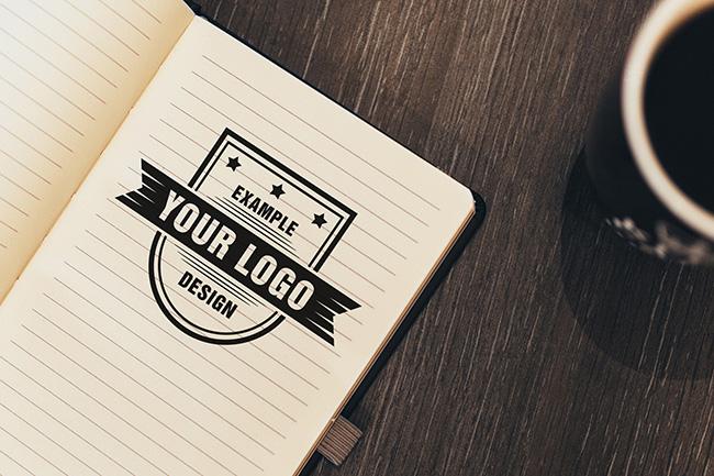 Logo on Notebook Online Mockup