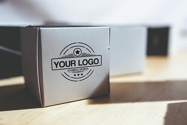 Logo on Box Mockup Template preview image