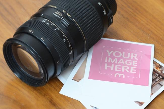 Polaroid Photo Frame Mockup Template