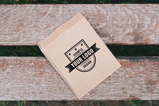 Logo on Paper Bag Mockup preview image