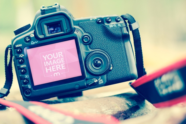 Photo Camera LCD Display Screen Online Mockup preview image