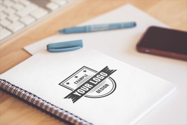 Logo on Sketchbook Online Mockup Template preview image