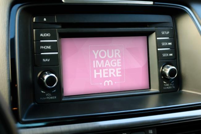 Car Display Screen Mockup Template preview image