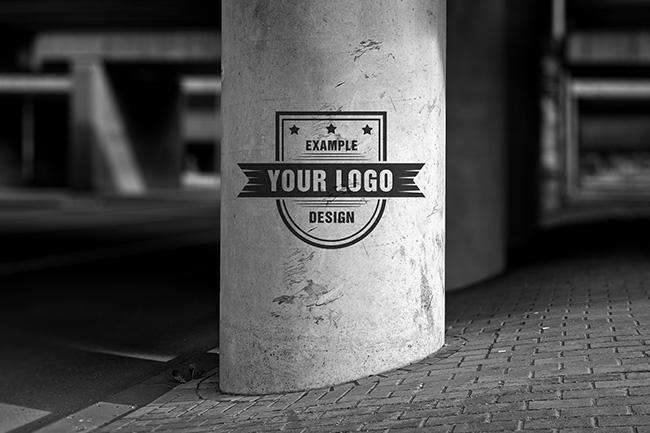 Outdoor Logo/Graffiti Mockup Template preview image