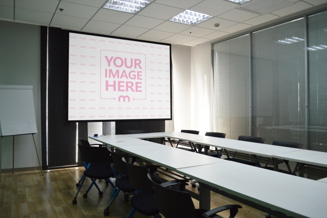 Projector Display in a Meeting Room
