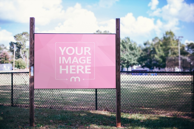 Outdoor Advertisement Sign Mockup Template preview image