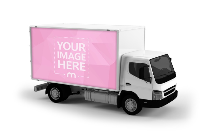 3D Transport Truck Mockup Template