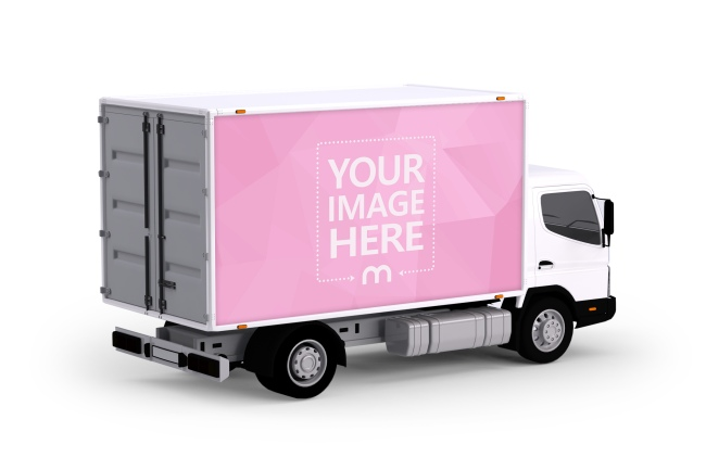 3D Truck Branding Mockup Template preview image