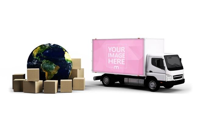 Global Transport 3D Mockup Template