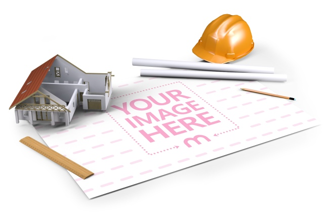 House Design Engineering Papers Mockup