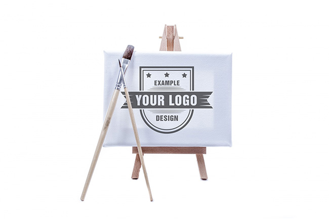 Logo on Easel Mockup Template preview image