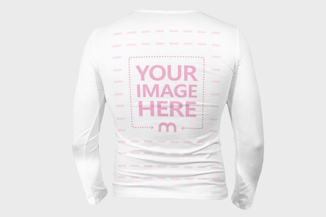 Men's Long Sleeve Shirt Back View Mockup preview image