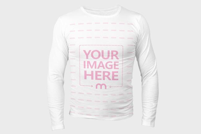 Men's Long Sleeve T-Shirt Front View Mockup Generator