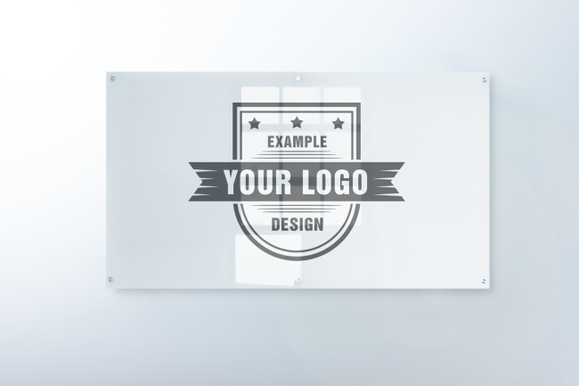 Logo on Glass Sign Front View Mockup Maker preview image