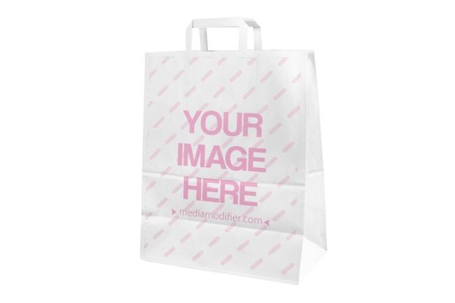 free logo on paper bag mockup generator