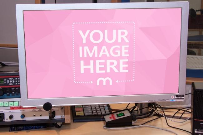 Monitor in Studio Mockup preview image