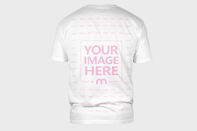 T-Shirt Back View Mockup Template preview image