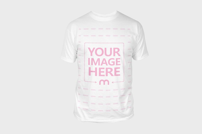 T-Shirt Front View Mockup Template preview image