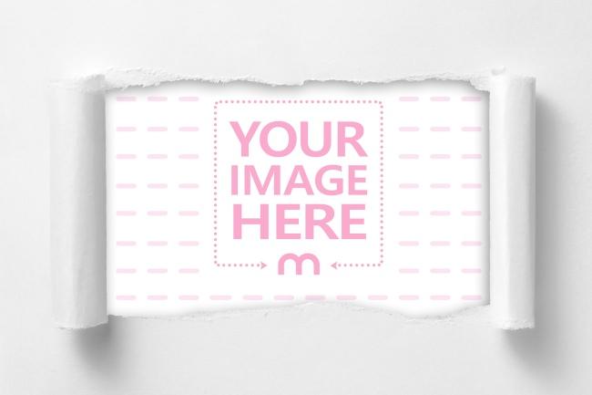 Torn paper image effect online