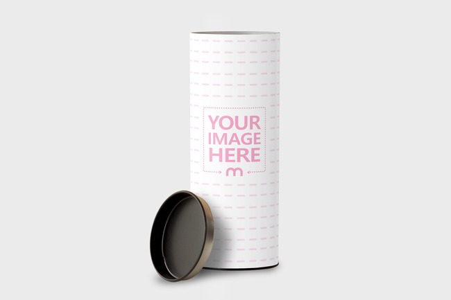 Cardboard Cylinder Container Mockup Generator preview image