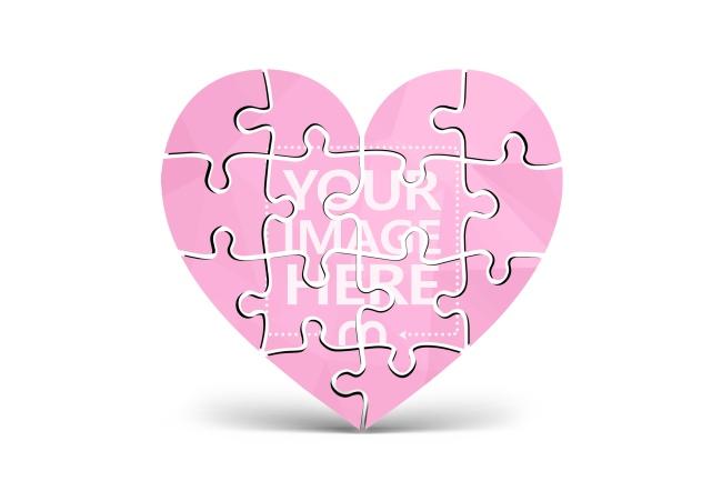 3D  Heart Puzzle Online Image Effect preview image