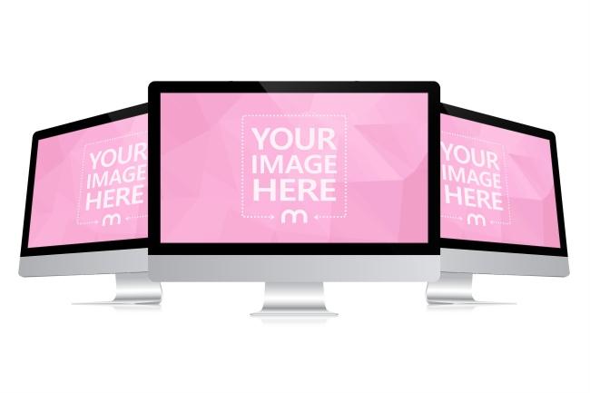 3D iMac Monitors Mockup preview image