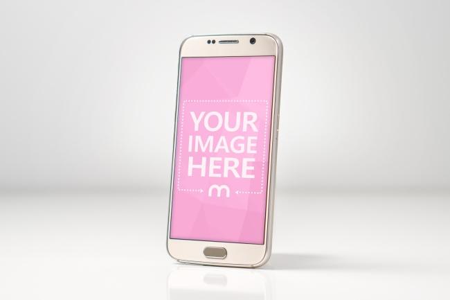 Golden Smartphone Screen Mockup preview image