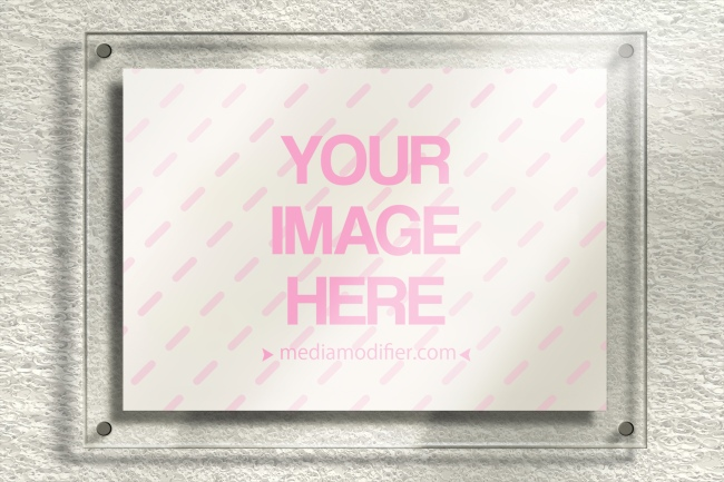 Logo on Glass Plate Free Online Mockup preview image