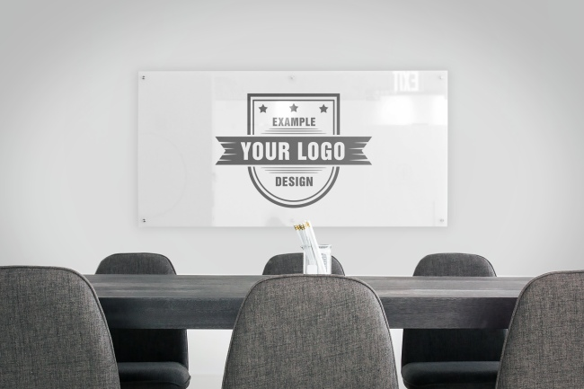 Logo on Board Room Wall Mockup Generator preview image