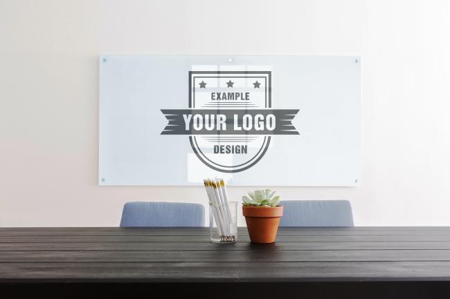 Company Meeting Room Logo Mockup