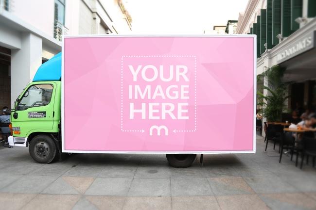 Advertisement on Truck Mockup