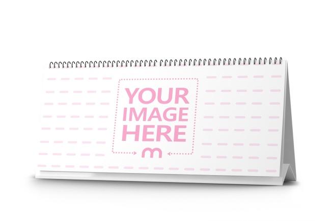Horizontal Paper Calendar Online Mockup Generator preview image