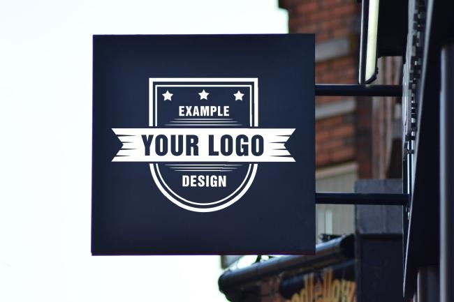 Wall Mounted Logo Sign Mockup Generator