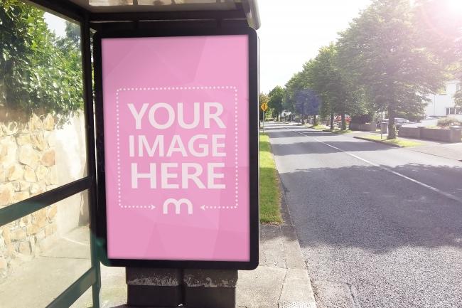 Bus Stop Advertisement Mockup Generator