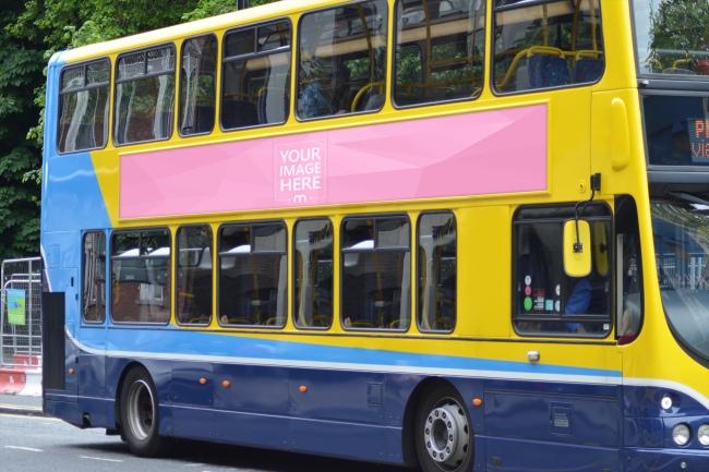 Advertisement on Bus Mockup Template