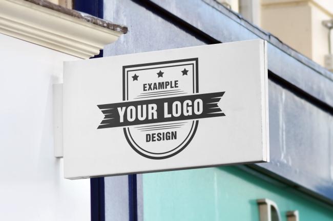 logo street sign horizontal free mockup generator