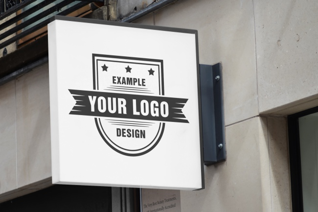 Outdoor Logo Sign Mockup Template preview image